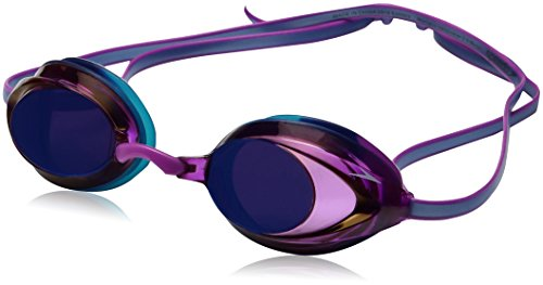 Speedo Women's Vanquisher 2.0 Mirrored Swim Goggles, One Size, Purple - Swim Goggles Womens