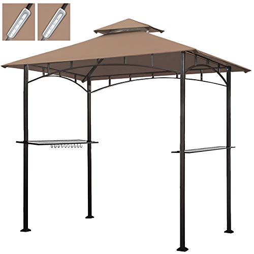 Keymaya 8x5 Grill Gazebo Shelter for Patio and Outdoor Backyard BBQ