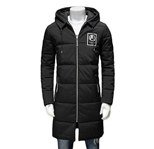 Invernali Gkkxue Con Giovane Nero Cotone Nero Uomo Da Dimensioni Xxl Lunghi colore Cappotti Di Giacche Cappuccio Grasso Casual w4qFfqWUXc