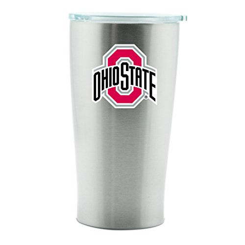 NCAA Ohio State Buckeyes 14oz Double Wall Stainless Steel Thermo Cup with -