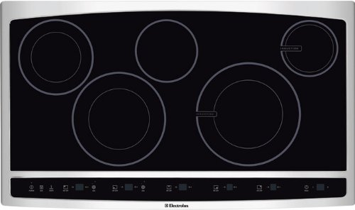Beautiful 36u0026quot; Hybrid Induction Cooktop With Blue LED Display Easy To Clean  Cooktop Surface