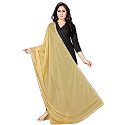 RANI SAAHIBA Women's Solid Spandex and Net Dupatta