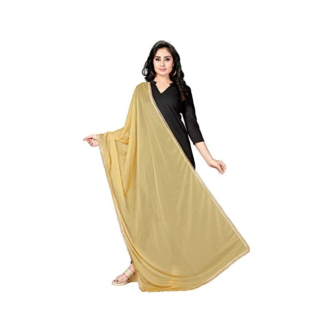 Solid Spandex and Net Dupatta