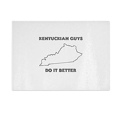 Kentuckian Guys Do It Better Kentucky Kitchen Bar Glass Cutting Board