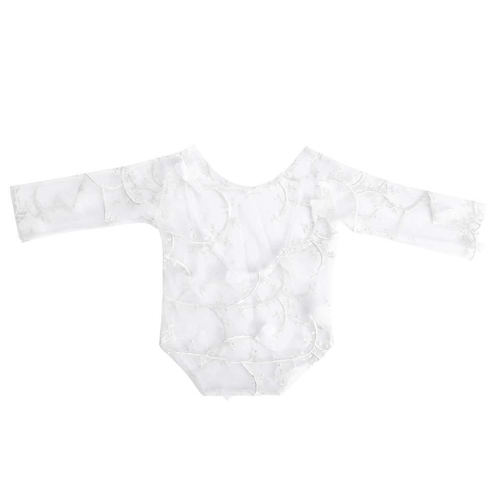 Blau Baby Anzug Spitze Kleidung Bl/ütenblatt Fotografie Requisiten Props Fotoshooting Zubeh/ör f/ür Neugeboren