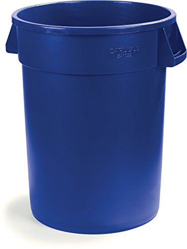 Carlisle 34103214 Bronco Round Waste Container Only, 32 Gallon, Blue by Carlisle (Image #7)