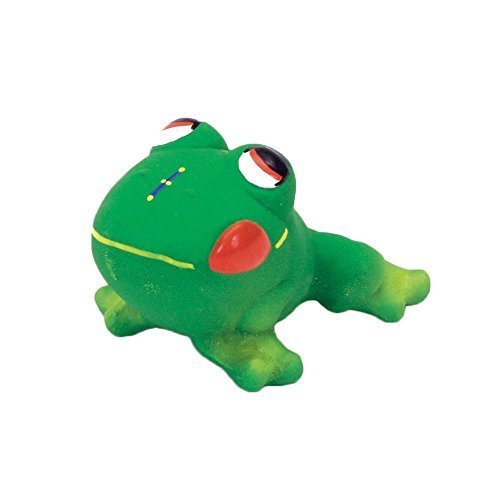 Latex Frog - Coastal Pet Rascals Latex Frog Squeaker Dog Toy, 3-Inches (2-Pack)