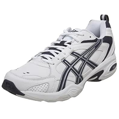 ASICS Men's GEL-TRX Training Shoe,White/Navy/Silver,7 D US