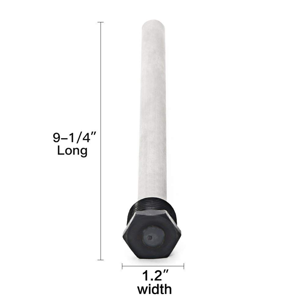 Long Lasting Tank Corrosion Protection Rv Heater Anode Rod 2 Pack Eau Aluminum//Zinc Rv Hot Water Tank Anode Rod Suburban and Morflo 9.25Long /& 3//4 Thread