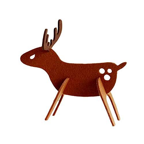 Hide on bush Fashion Felt Christmas Elk Deer Ornaments Xmas Tree Hanging Decoration Pendant Baby Like Gift - Fridge Mini Bronze