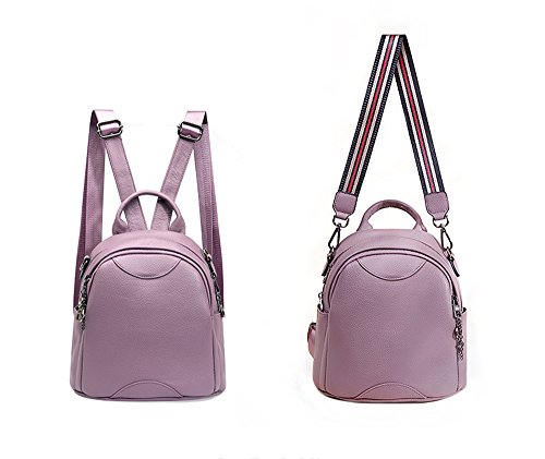And Quality High Purple Backpack Travel Leather School For Purse Women LLXY Faux Backpack Satchel Bag Girls Aq5wAOd