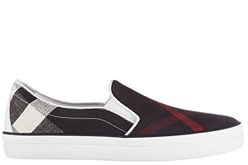 BURBERRY Women's Slip On Sneakers Gauden Blu US Size 5 - Burberry B