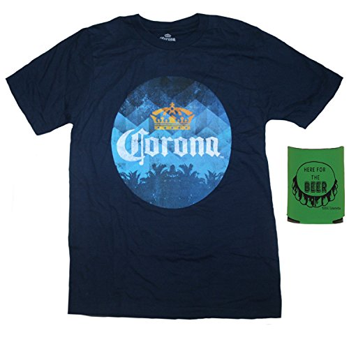 Corona Mens' T-Shirt and Insulated Can Holder - Multi-Pack Gift Set (XL) (Mens Corona Beer)
