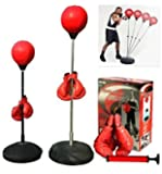 5Star-TD Boxing Punching Speed Ball Boxing Bag Anti Stress Fitness with Boxing Glove for Teenagers and Adults Adjustable…