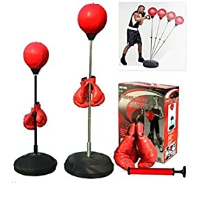 Boxing punching speed ball boxing bag anti stress fitness with boxing glove for Teenagers and Adults Adjustable 48′ to 59′ in Height New