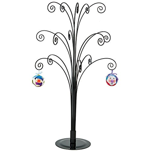 HOHIYA Ornament Display Stand Tree Metal Christmas Halloween Dog Cat Bauble Wire Hanger 20inch(Black)]()