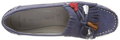 Bleu Marco Mocassins Premio comb Navy Tozzi 24610 Ant Loafers Femme wtqYSrtFx