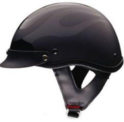 Motorcycle Helmet With Flames - 9