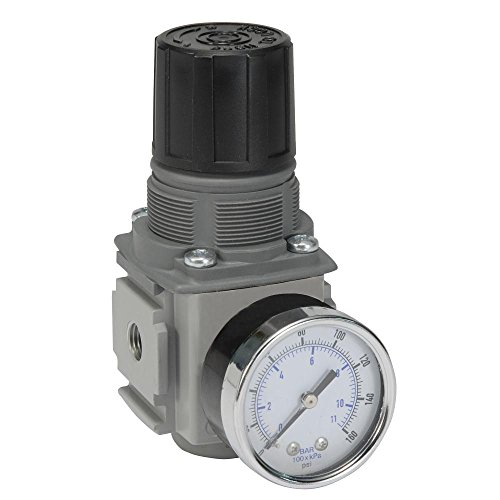 - Parker Hannifin P32RB93BN5P Series P32RB Compact Regulator with Square Gauge, Relieving Relief, Non-Rising Knob, 125 psig Range, Plastic Panel Mount Nut, 3/8