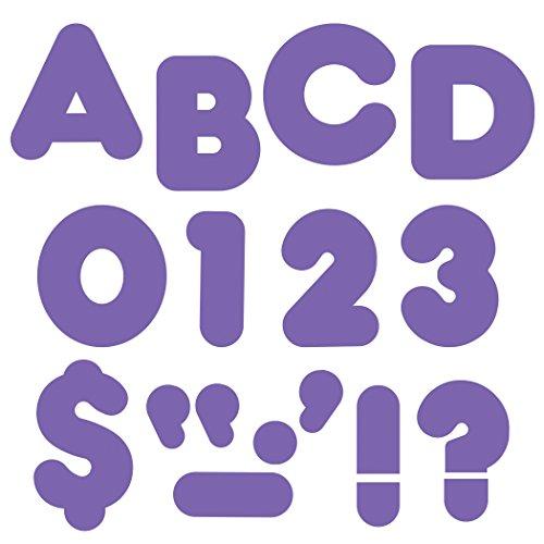 "Trend Enterprises Casual Ready Letters, 72 per Package, 4"", Purple (T-470)"