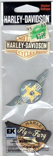 Jolees Harley Davidson 3-D Stickers, Vintage Logo