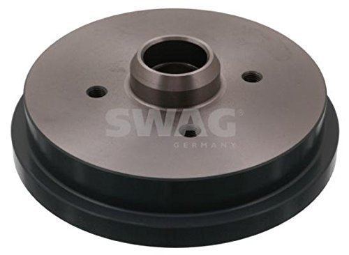 SWAG Rear Brake Drums PAIR x2 Fits AUDI 50 80 SEAT Cordoba VW Polo 191501615 by Swag