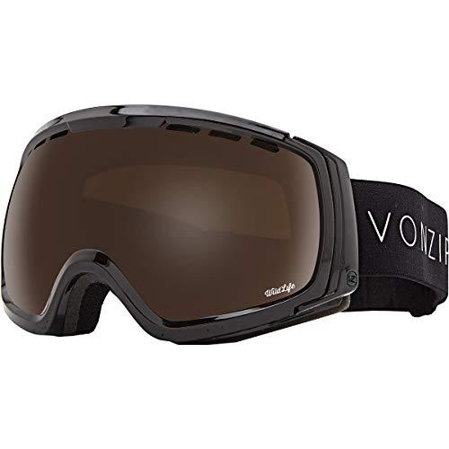 VonZipper Feenom N.l.s. Sunglasses, One, Black Gloss/Wild Bronze