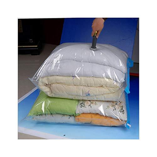 Vacuum Bag Storage Homeizer Transparent Border Foldable Clothesizer Seal Compressed Travel Saving Space Bags Package,70X90Cm