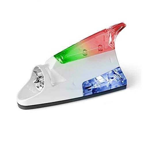 CARIZO Wind Powered LED Light Fin Shaped Car Antenna (White) for Maruti Suzuki A-Star