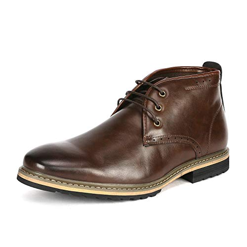 Bruno Marc Men's Bergen Oxford Dress Boots - stylishcombatboots.com