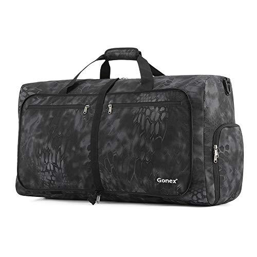Gonex Cordura Duffle Bag, Packable Travel Duffel Water Resistant, 60L(Typhon)