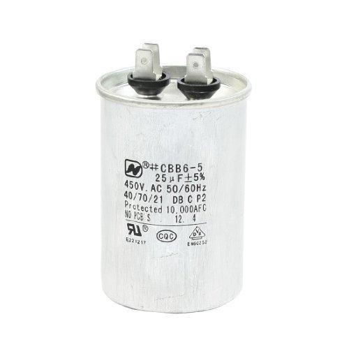 EbuyChX a13050300ux1278 AC 450V 25uF CBB6-5 Modelo Non Polar Air Conditioner Motor Tumatakbo Capacitor ()