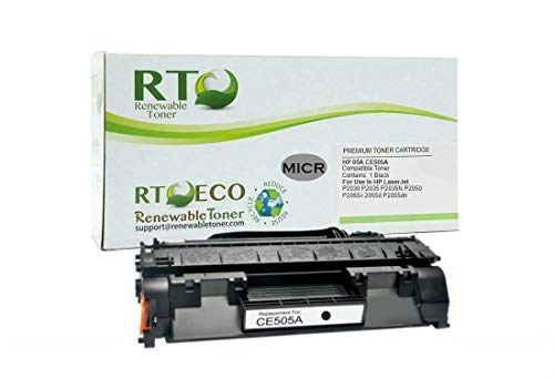 Renewable Toner Compatible MICR Toner Cartridge Replacement HP 05A CE505A for LaserJet P2035 P2055