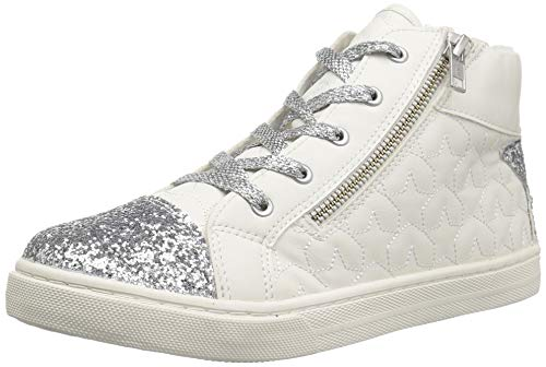 The Children's Place Girls' High Top Sneaker, White, TDDLR 7 Child US Toddler by The Children's Place (Image #1)
