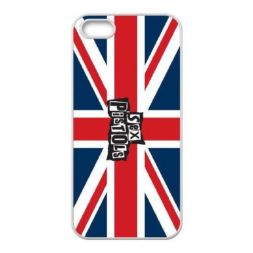 The Sex Pistols 004 coque iPhone 4 4S cellulaire cas coque de téléphone cas blanche couverture de téléphone portable EOKXLLNCD20254