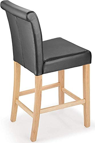 Tuscany Bar Stool (Black & Oak)