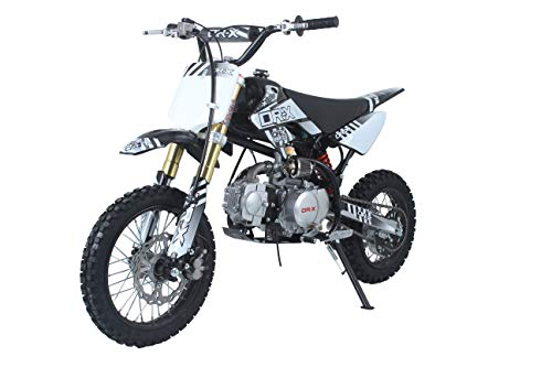 DR-X 125CC Inversed Front Suspension Dirt Bike - Pit Bike for Teenagers and Adults, 2019 Model (Black-White) ()