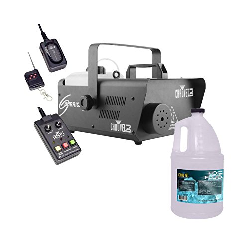 CHAUVET DJ Hurricane 1600 Pro Fog Smoke Machine w/ Remotes + Fog Fluid | H1600