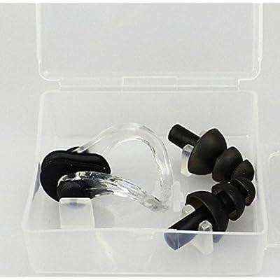 bemodst® Bain emballage étanche en silicone nez clip oreille jeux étanche en silicone nez clip pratique imperméable équipement adultes enfants anti-choked Eau Bouchons d'oreille en silicone Nar