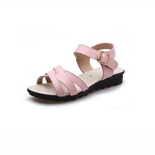 Zapatos Tacón Punta De Ly Zapatos DALL Mujer 769 De Zapatos Cm Beige Moda Abierta Color Alto Verano Simple Y Sandalias EU tacón Planas Tamaño Alto 3 39 Y De Pink CN UK6 Primavera de De 39 0qqzanxwU7