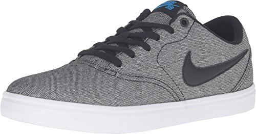 Nike Men's SB Check Solarsoft Canvas Skate Shoe (13 D(M) US, Grey/Black/Photo Blue/Black)
