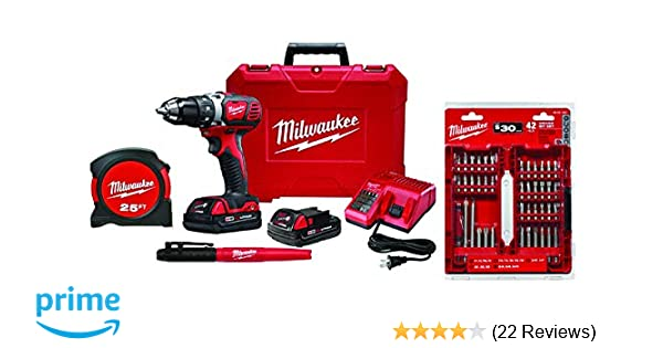 M18 2606-22CTP Compact Drill/Driver Kit, 18 V, Lithium-Ion, 1/2 in Metal  Single Sleeve (W/Carrying case)