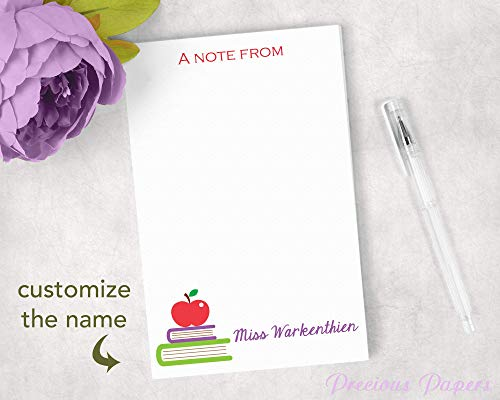 Personalized Teacher Notepads - Personalized Books and Apple Notepad for
