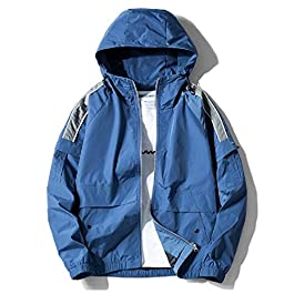 Men's Casual Leisure Hooded Oversized Outerwear Juniors' Jacket Coats