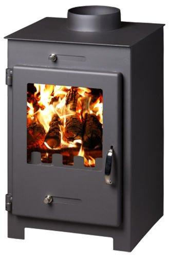 Estufa de leña chimenea quemador Log cristal de cerámica de combustible sólido chimenea 5 kW