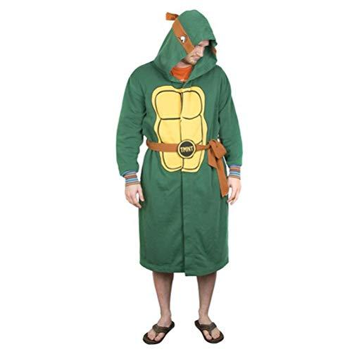 BioWorld Teenage Mutant Ninja Turtles Hooded Robe, L/XL, Green (Mens Ninja Robe Turtles)