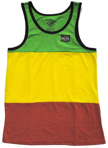 Stripe Rasta - Bob Marley Rasta Stripes Lightwight Adult Tank top Shirt