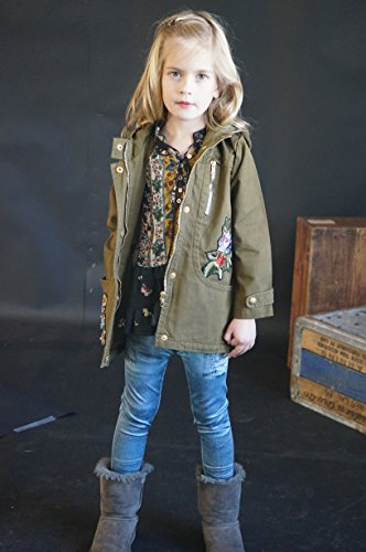Truly Me, Big Girls Knit Long Sweater Outerwear Jacket (Many Options), 7-16 (10, Olive Multi) by Truly Me (Image #2)