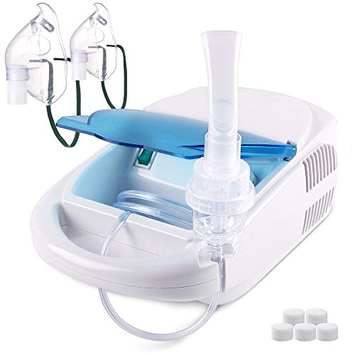 Elite Compressor Nebulizer - TTstar Compressor System Personal Cool Mist Inhaler Machine Kit for Adults and Kids with 1 Set Parts Kit-1 Year Warranty