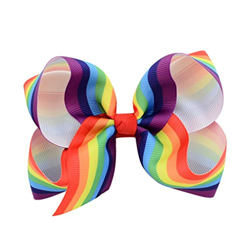Actuallyhome Gradient Color Ribbon Bow Alligator Clips Girls Hairpins Handmade Bowknot Kids Hairclips Women (41,-) -